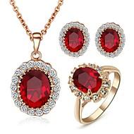 Biżuteria-Naszyjniki / Náušnice / Rings(Kryształ)Ślub / Impreza / Casual Prezenty ślubne