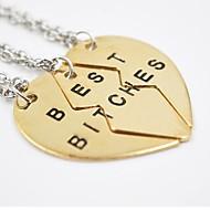 Heren Dames Voor Stel Hangertjes ketting Legering Modieus Verstelbaar Initial Jewelry Zilver Gouden Sieraden Dagelijks Causaal 3 stuks