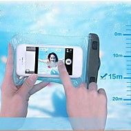 PVC Waterproof Pouch 15M Underwater Phone Bag with Arm Band and Lanyard for iPhone 4/4S/5/5S/5C/6/6 Plus and Others
