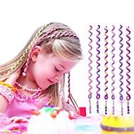 Cuerda de pelo rizado 6pcs 24cm violeta de los niños