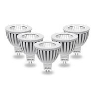 5 pcs IENON® GU5.3(MR16) 5W COB 400-450 LM Warm White / Cool White MR16 LED Spotlight AC 12 V