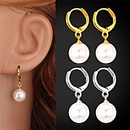 Tropfen-Ohrringe Perle Perle Künstliche Perle Platiert vergoldet Geburtssteine Silber Golden Schmuck Hochzeit Party Alltag Normal Sport