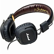MARSHALL MAJOR Fever HIFI Rock Listening Headphone Signature Edition 3.5mm Plug Gaming Wire Mic for Iphone 6 / 6Plus