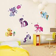 muurstickers muur stickers, schattig klein paard stijl pvc muurstickers.
