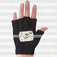 Handsker Inspireret af Naruto Hatake Kakashi Anime Cosplay Tilbehør Handsker Sort Uld Mand