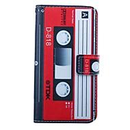 Del cuero del patrón de cassette carpeta de la PU de 4,5 pulgadas para Huawei Ascend Y550