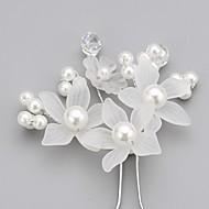 Kobiety Flower Girl Kryształ Stop Pearl imitacja Akrylowy Winieta-Ślub Piękny Spinka do włosów