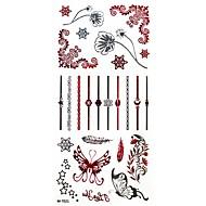 Seria kwiatowa Naklejki z tatuażem - Damskie/Girl/Dorosły/Dla nastolatków #(26CM*10.8CM) - Metal - Wielokolorowy - #(1) ( Wzór )