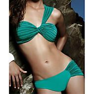 női divat szexi zöld retro rakott beach bikini szett fürdőruha fürdőruha
