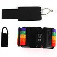 3-in-1 Set Outdoor Travel Password Lock Straps Set - rainbow color