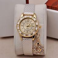 Damers Modeklocka Armbandsur Simulerad Diamant Klocka Quartz Diamant Imitation PU Band Berlock Svart Vit Blå Brun GuldVit Svart Brun Blå