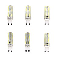 6 pcs G9 4 W 72 SMD 2835 600 LM Warm White / Cool White Dimmable Corn Bulbs AC 220-240 V