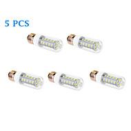 Ampoule Maïs Blanc Chaud / Blanc Froid 5 pièces T E26/E27 9 W 36 SMD 5630 760 LM AC 100-240 V