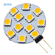 1.5W G4 LED Spotlight 12 SMD 5050 70 lm Warm White / Cool White AC 12 V 20 pcs