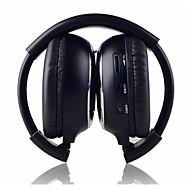 IR-2011D  2-Channel Infrared Stereo Wireless Foldable On-ear  Headphones - Black + Silver (2 x AAA)