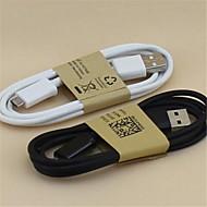 1m cabo de dados micro USB para celulares Samsung S5 / S4 / S3 / Nota4 (cores sortidas)
