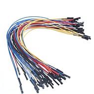 קו dupont בראשות 25 סנטימטר אורך 2.54mm קו 1P (50pcs)