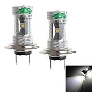 Zweihnder  H7 30W 2800LM 6000-6500K 6xCree XB-D White Light Bulb for Car Fog Lamp (12-24V,2 Pieces)
