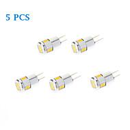 5 pcs G4 3W 6 SMD 5730 220 LM Warm White / Cool White LED Spotlight AC 12 V