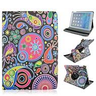 korkealaatuinen maalattu värillinen maailmaa pyörittää pu suojella kotelo jalustalla iPad mini 1/2/3