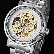 automatique montre mécanique bracelet cadran en acier creux des hommes (couleurs assorties)