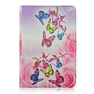 High Quality Painted Butterfly Flowers Rotated PU Protect Holster with Stand for iPad mini 1/2/3