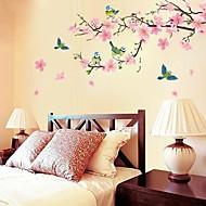 romantisk Cherry Blossom formet soveværelse / stue / tv baggrund væg mærkat