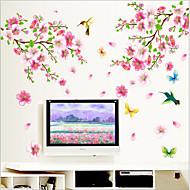 miljømæssige aftagelig blomme blomstre pvc væg sticker
