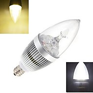 Bombillas Vela Ding Yao E14 9 W 3 LED de Alta Potencia 72 LM Blanco Cálido/Blanco Fresco AC 85-265 V 1 pieza