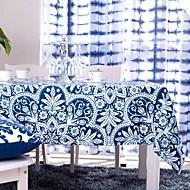 파란색 인쇄 테이블 천으로