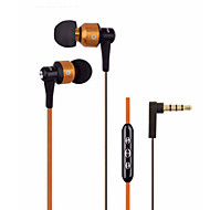 AWEI-TE55VI 3.5mm Volume Control Noise-Cancelling Mike In Ear Earphone for Iphone and Other Phones(Assorted Colors)