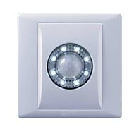 0.5W 8xsmd 50lm 6500k kjølig hvitt lys ledet pir bevegelsessensor garderobe lampe / hjørne lys (110-250v)