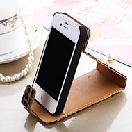 Compatible Leopard Print Case with Kickstand for iPhone 4/4S