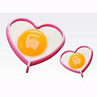 καρδιά σχήμα σιλικόνη υψηλής θερμοκρασίας DIY μούχλα (τυχαία χρώμα)