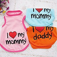"Lovely Printed""I love my mommy/daddy"" Vest for Pets Dogs"