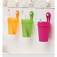 zuigen schijf frosted tandenborstel beker (willekeurige kleur)