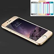 la mode en alliage de titane de luxe en verre trempé couverture complète protecteur d'écran pour iPhone 6s / 6