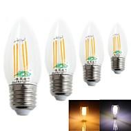 Lámparas LED de Filamento Decorativa Zweihnder CA E26/E27 4.0 W 4 LED Integrado 380 LM Blanco Cálido/Blanco Fresco AC 100-240 V 4 piezas