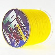 300M / 330 Yards Żyłka polietylenowa pleciona / Dyneema Vlasce żółty shad 28LB / 25 lb / 20 lb / 18LB / 10LB / 8LB