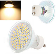 1 pcs  GU10 4 W 60LED  SMD 3528 300-560 LM 2800-3500/6000-6500 K Warm White/Cool White Spot Lights AC 220-240 V