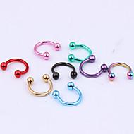 Γυναικεία Κοσμήματα Σώματος Labret, Lip Piercing Jewelry Cercei & Studs de Nas Piercing αυτιών μύτη Piercing Ανοξείδωτο ΑτσάλιΜοναδικό