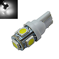 JIAWEN® T10 1W 5X5050SMD 70-90LM 6000-6500K Cool White  LED Car Light (DC 12V)