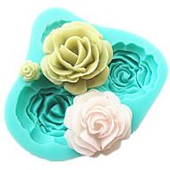 4 rózsák szilikon torta forma sütés eszközök konyhai kiegészítők fondant csoki öntőforma sugarcraft dekorációs szerszám