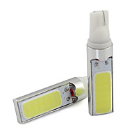 2pcs T10 5W 300LM High Power COB LED Car Bulb White For License Plate Light DC 12V