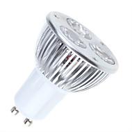 3W GU10 Lâmpadas de Foco de LED MR16 3 LED de Alta Potência 250-300 lm Branco Quente / Branco Frio Regulável AC 220-240 V 1 pç