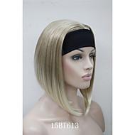 ヘッドバンドの女性の短いストレート合成半かつらを使用して新しいファッション3/4ウィッグ