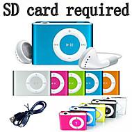 1-8GB Support Micro SD TF Fashion Mini Clip Metal USB MP3 Music Media Player