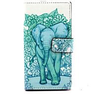 Varten Nokia kotelo Lomapkko / Korttikotelo / Tuella Etui Kokonaan peittävä Etui Elefantti Kova Tekonahka Nokia Nokia Lumia 830