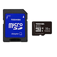 Toshiba 32GB UHS-I U1 / Clase 10 SD/SDHC/SDXC / MicroSD/MicroSDHC/MicroSDXC/TF / Adaptadores y cajasMax Read Speed40MB / S (MB/S)Max