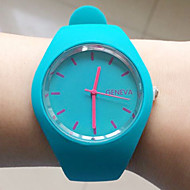 Women's Dress Watch Fashion Watch Wrist watch Casual Watch Quartz Silicone Band Black White Blue Red Brown